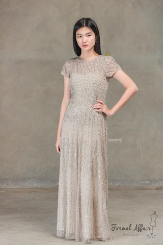 Natasha Dress in Beige