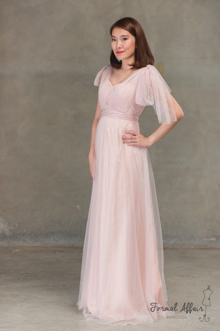 Annabelle Dress in Blush Pink