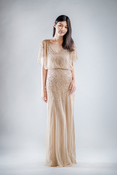 Adela Dress in Gold
