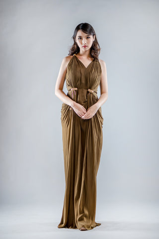 Sobasiz Dress in Golden Brown