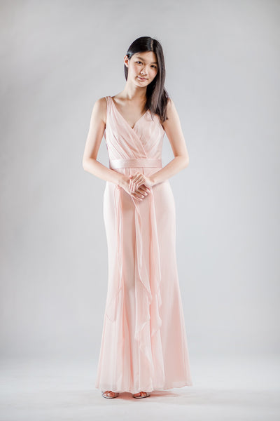 Rena Ruffle Dress in Pink