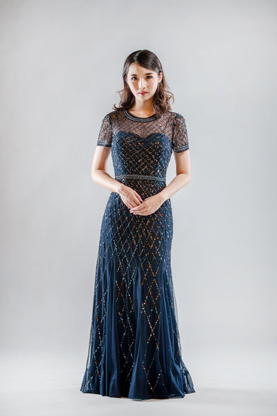 Sansa Dress in Navy