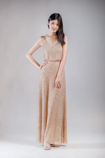Gilly Dress in Gold