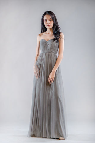 Annabelle Dress in Thunder Grey