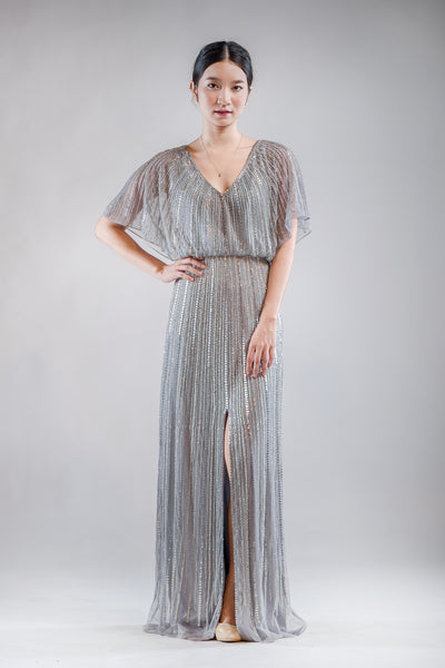Adeline Sequin Dress in Silver - The Formal Affair
