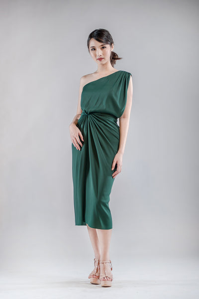 Short Chai Dress in Green - The Formal Affair