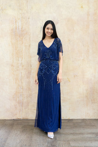 Adela Dress in Navy