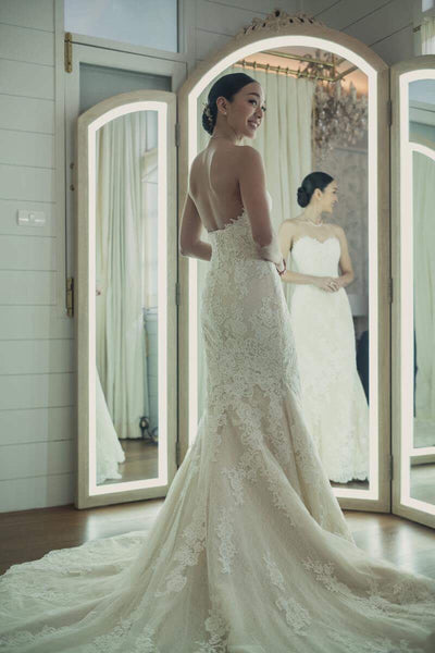 Strapless Pronovias Gown