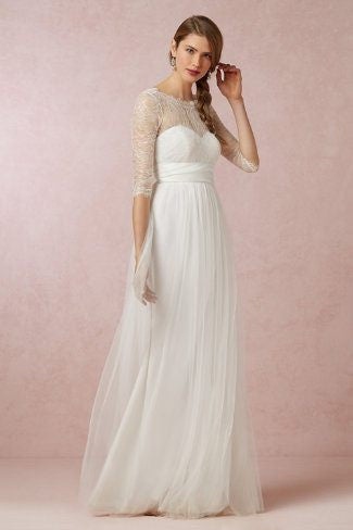 Bridal Annabelle Dress with Lace Top