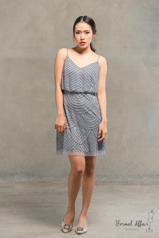 Short Gilly Dress in Grey