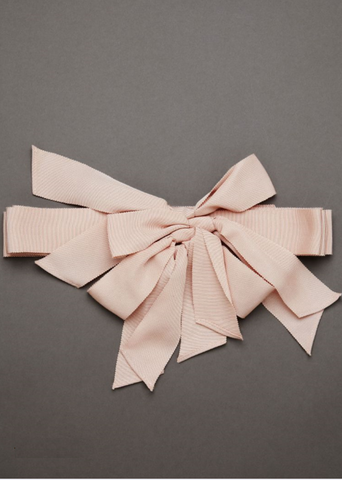 Triple Bow Sash in Blush