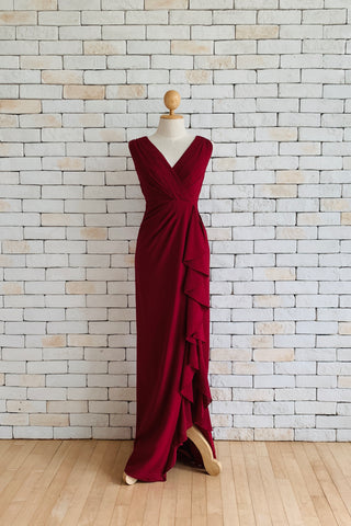 Coco in Burgundy Dress