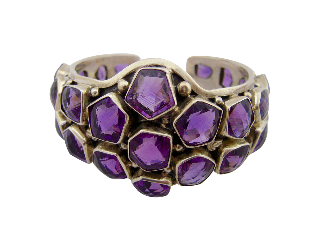 Amethyst checker cut cuff