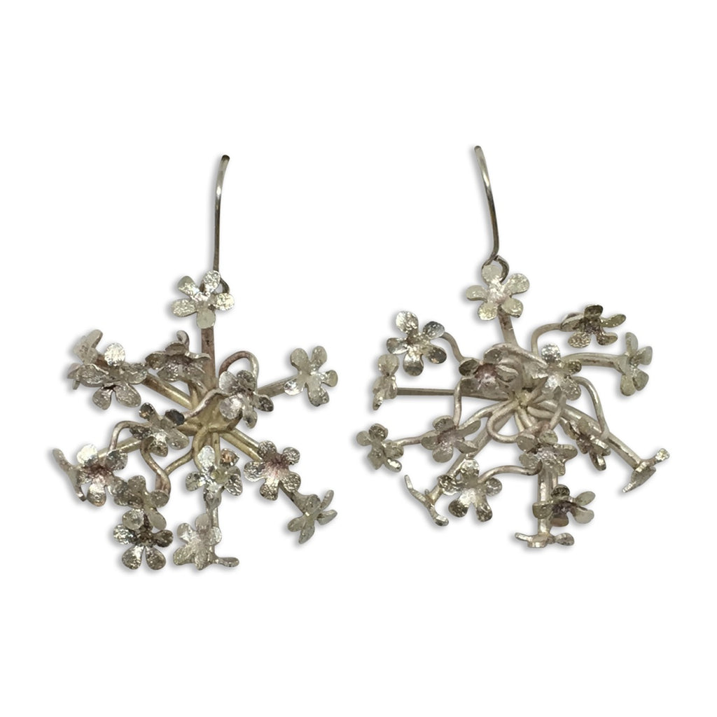 Spring flowers silver earrings