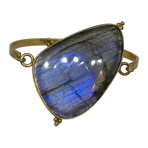 Labradorite slice bangle