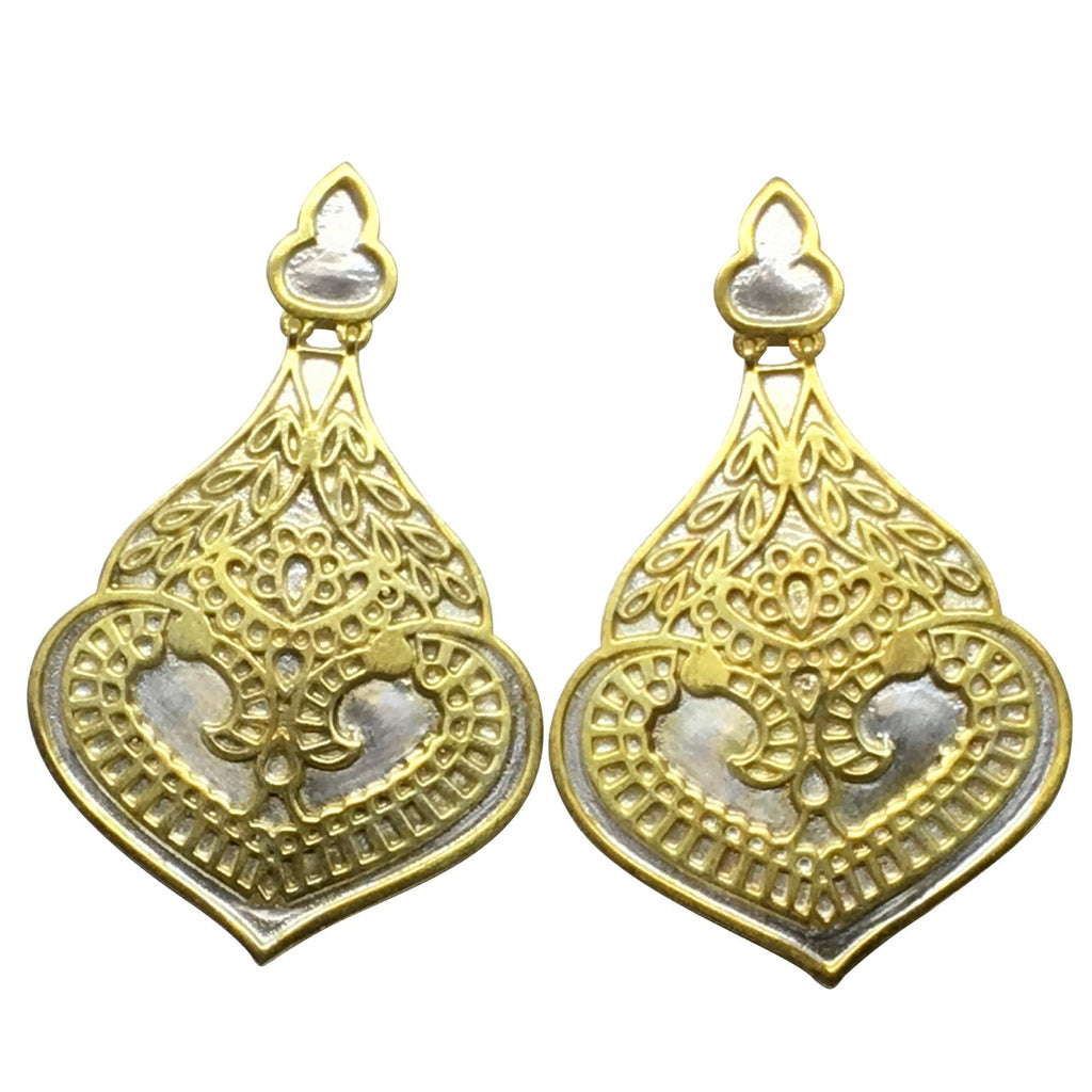 Marrakesh two tone earrings