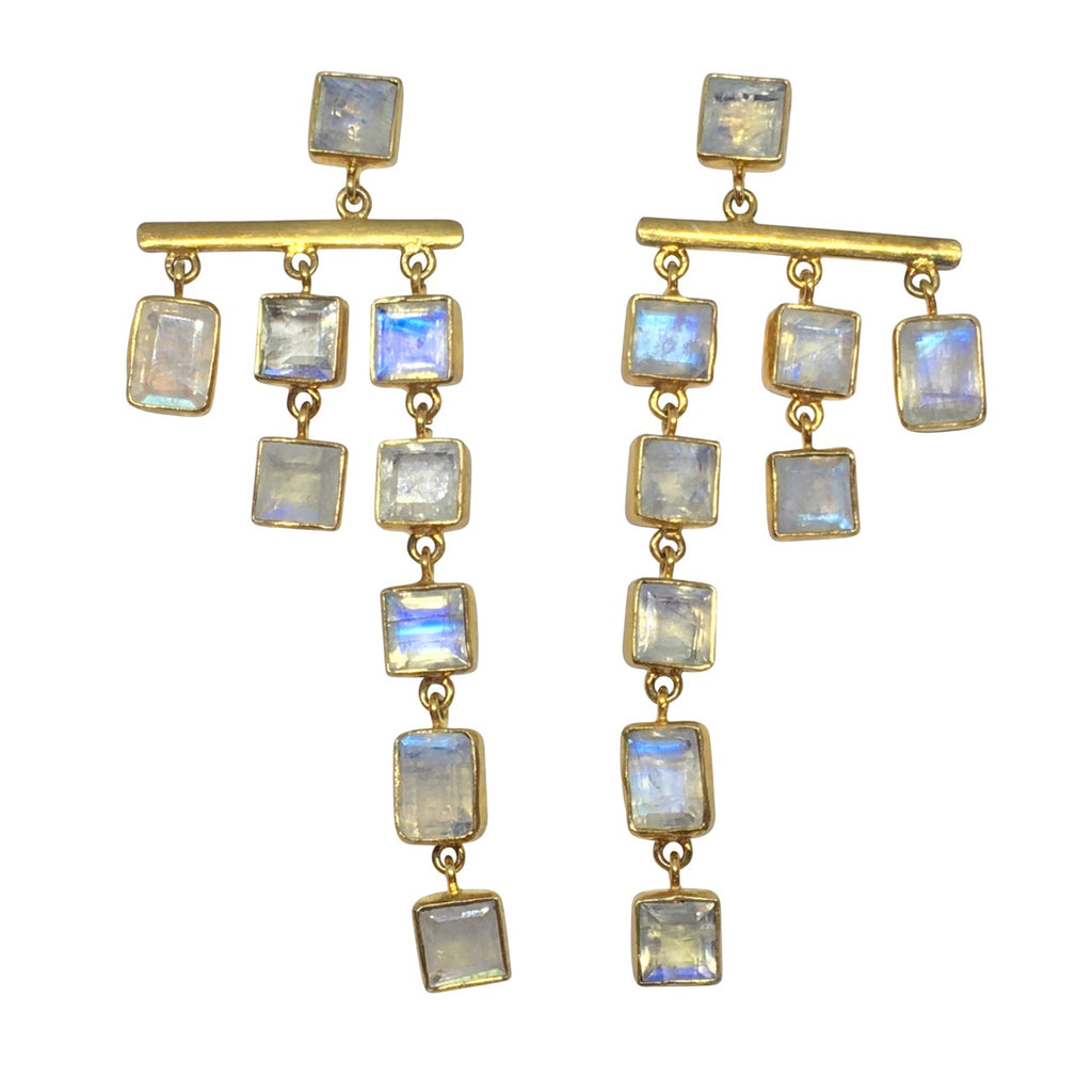 Chandelier moonstone squares and rectangles.
