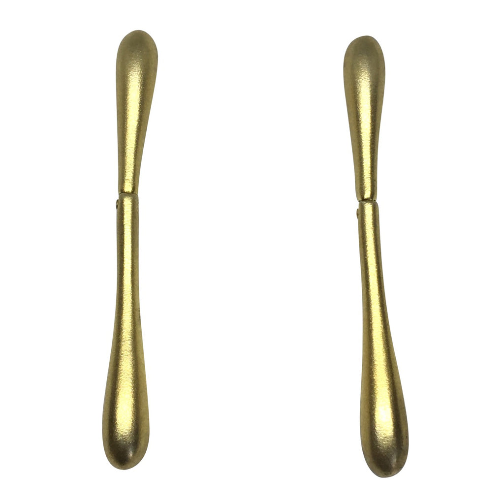 Elongated tear drop earrings