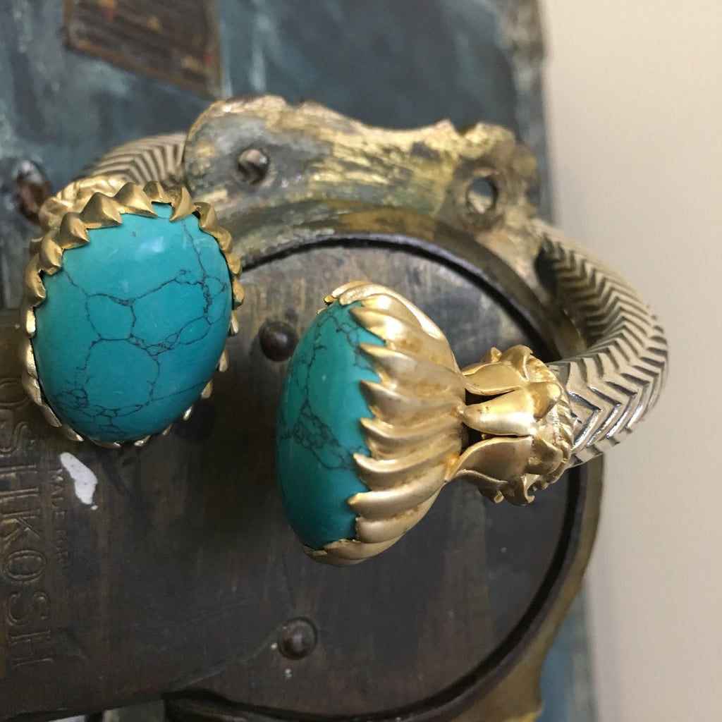 Double turquoise bangle