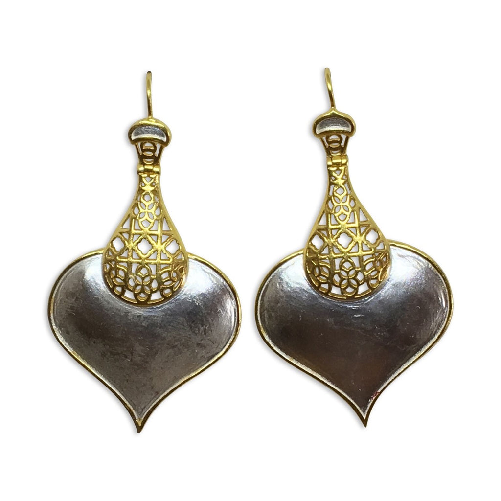 """Roma"" two tone matt earrings"