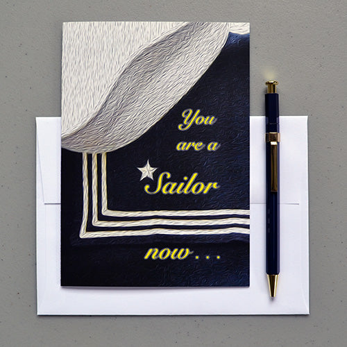 A Sailor Now - a US Navy licensed military graduation greeting card
