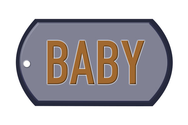 Military baby greeting cards and handmade ornaments