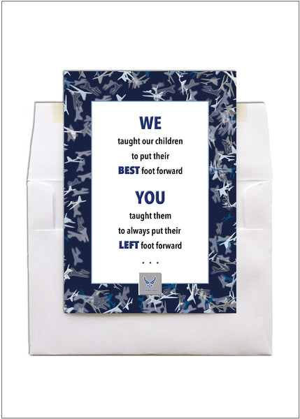 2MyHero USAF MTI thank you card military encouragement greeting card