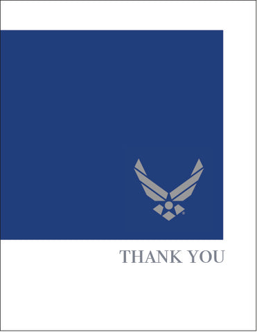 2MyHero Thank you pack of eight cards - USAF
