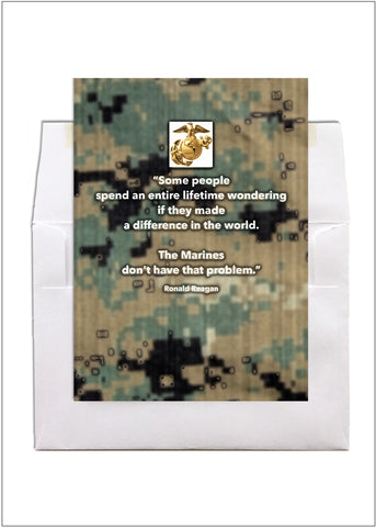 2MyHero US Marine Corps military encouragement greeting card