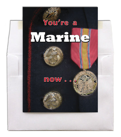2MyHero US Marine Corps military graduation greeting card - A Marine Now