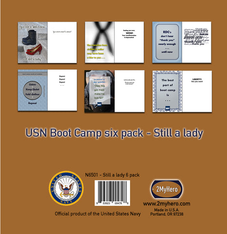 2MyHero military graduation greeting cards - boot camp mixed pack