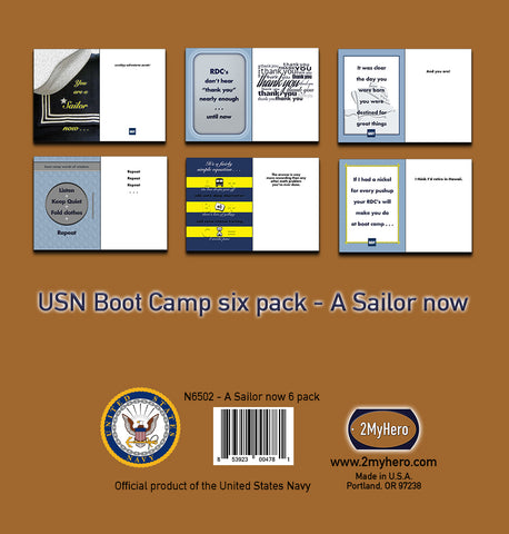 2MyHero USN boot camp six packs - military greeting cards
