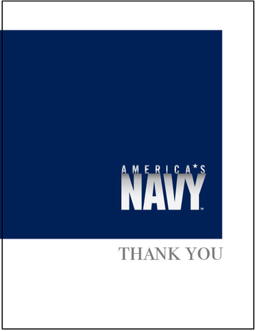 2MyHero Thank card for USN pack of eight cards