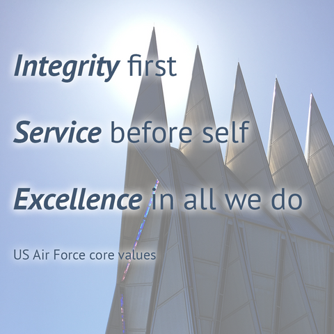 2MyHero USAF core value quote for Instagram