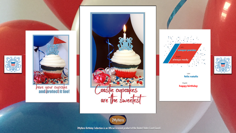 2MyHero USCG Birthday Collection of military birthday greeting cards