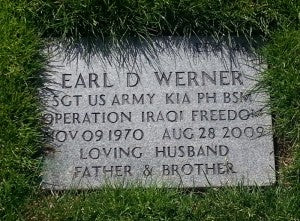 Tombstone at Willamette National Cemetery.