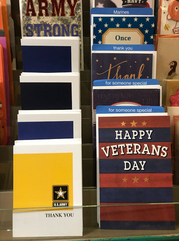 2MyHero military greeting cards on display at Kards Unlimited in Pittsburgh