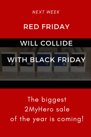 2MyHero Black Friday sale pinterest image - military greeting cards