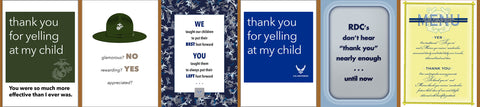 2MyHero thank you cards for military instructors
