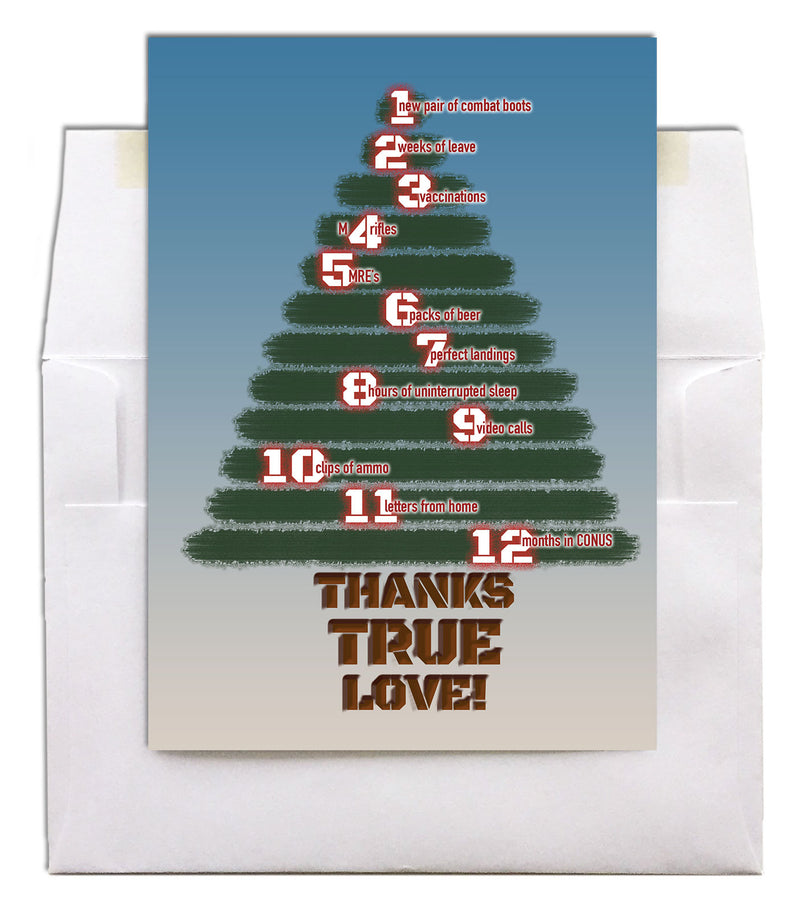 Military Christmas greeting card - 12 Days - 2MyHero