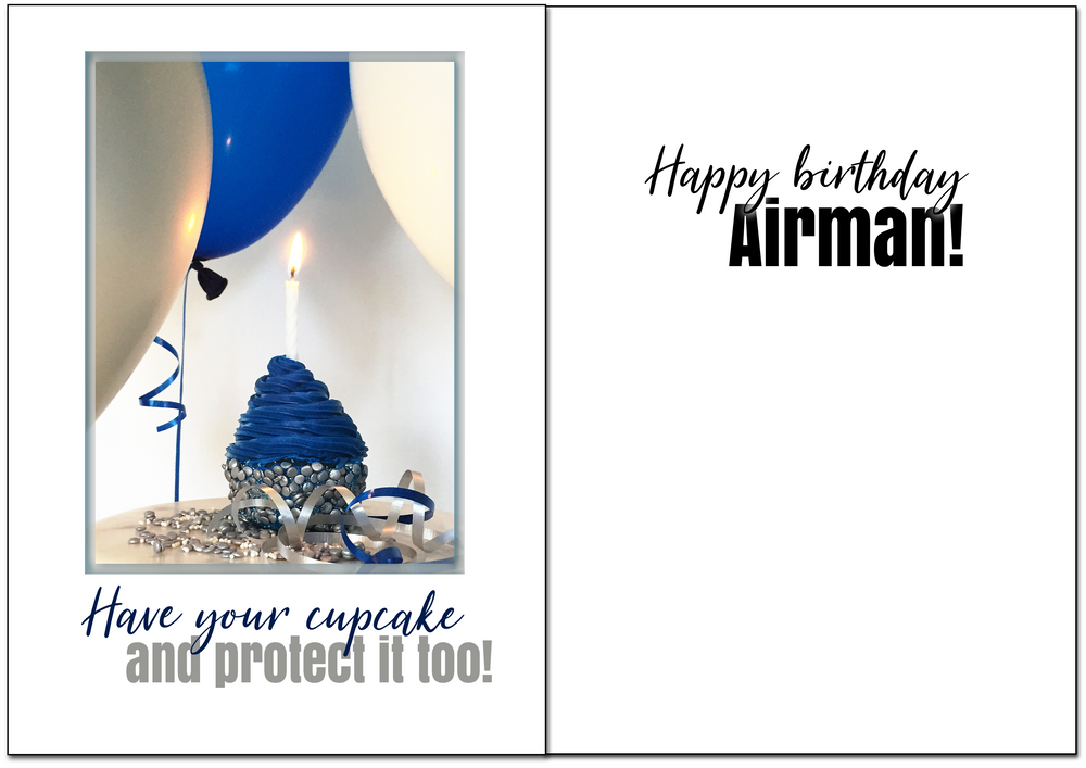 USAF Birthday - Protected military birthday greeting card - 2MyHero