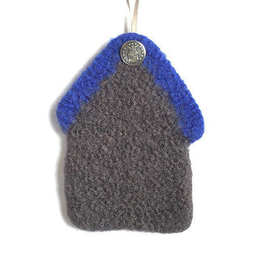 Felted Ornament - US Air Force, 100% wool felted house with button - 2MyHero