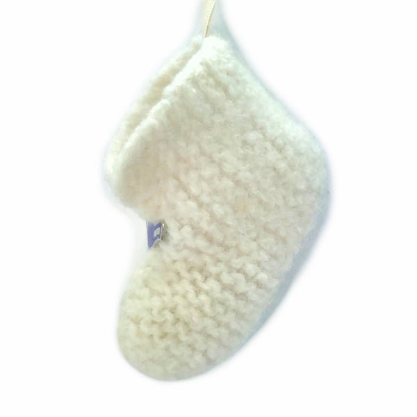 Ornament - US Air Force, 100% wool felted small bootie with vintage pin - 2MyHero