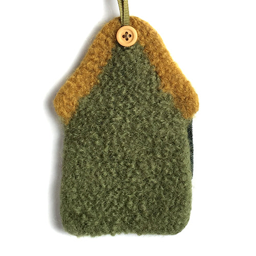 Ornament - US Army, 100% wool felted house with patch - 2MyHero
