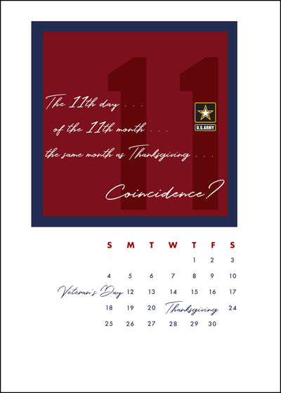 US Army Veteran's Day Greeting Card - No Coincidence - 2MyHero