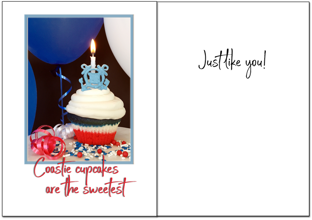USCG Birthday - Sweet military birthday greeting card - wholesale - 2MyHero