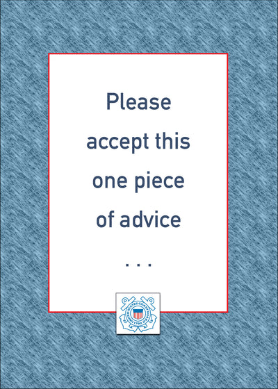 USCG military encouragement greeting card - Advice - 2MyHero