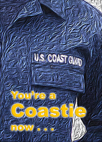 2MyHero USCG graduation greeting card - A Coastie now - front