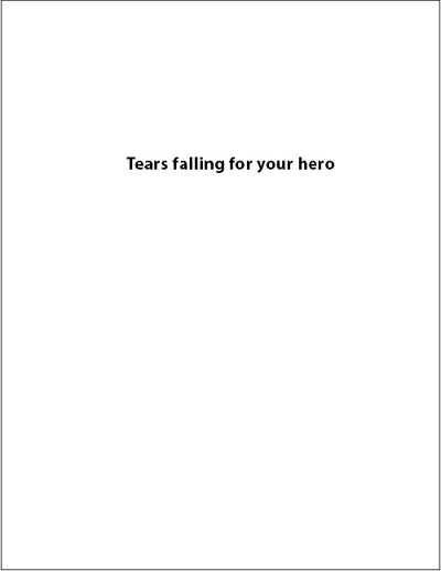 GS04 Tears - military sympathy greeting card - wholesale - 2MyHero