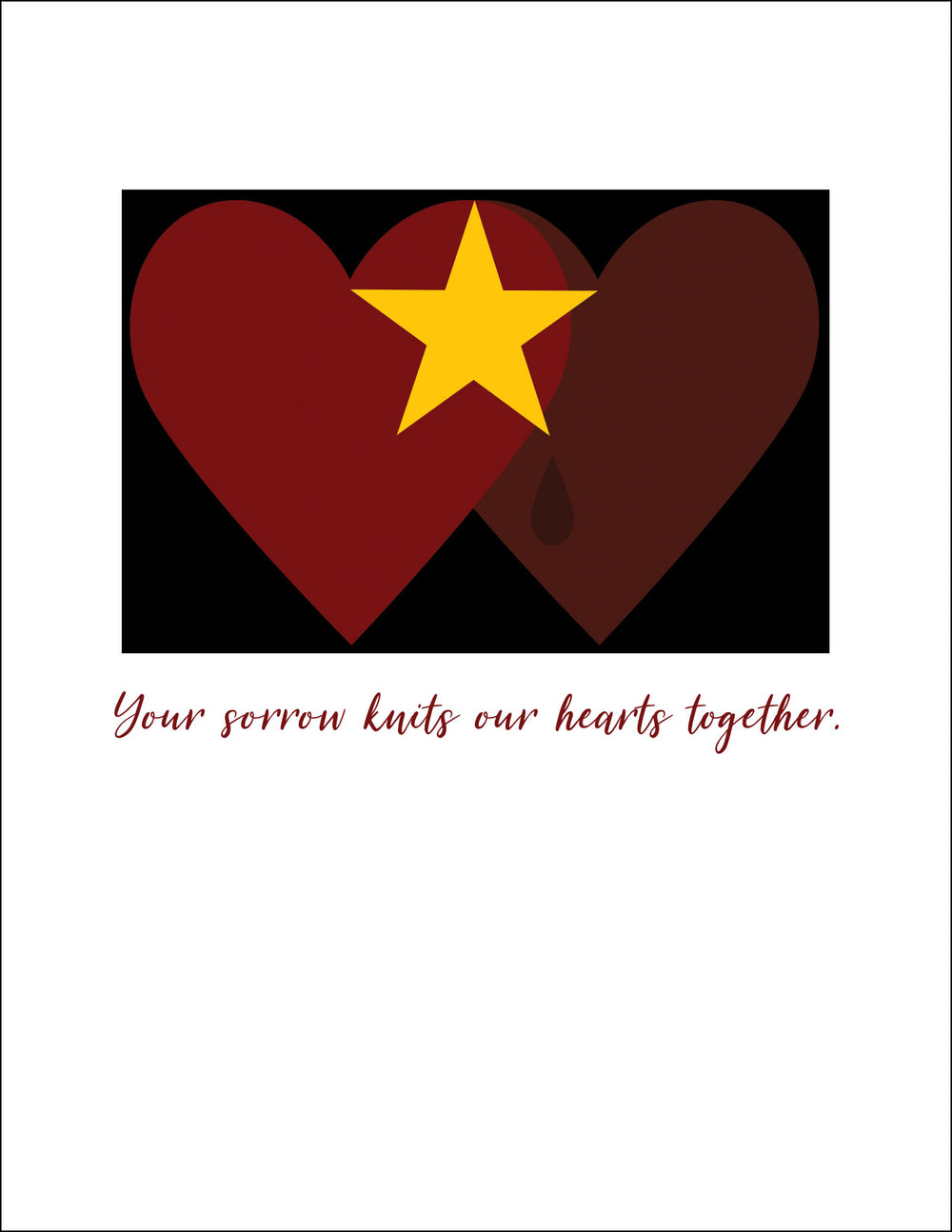 GS05 Hearts - military sympathy greeting card - wholesale - 2MyHero